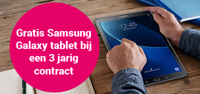 gratis tablet bij 3 jarig contract Essent